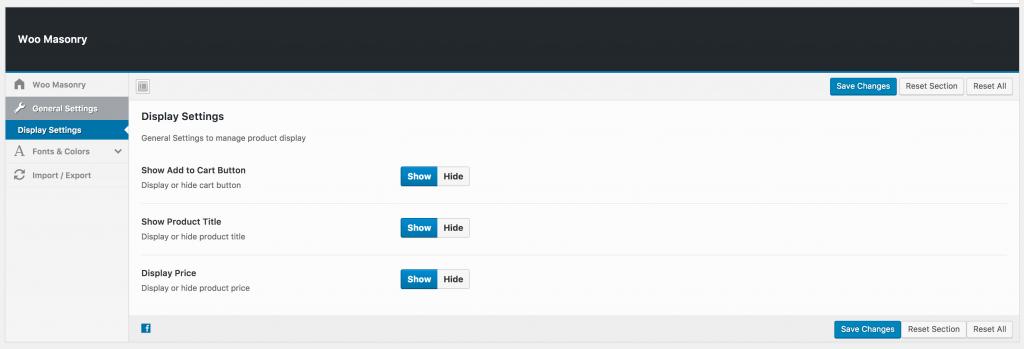 display settings page