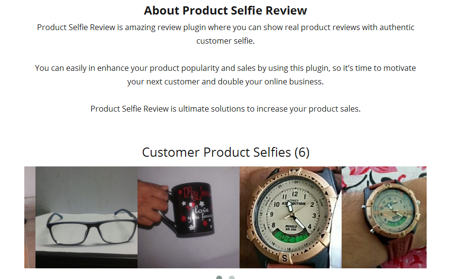 how the product selfie pictures look