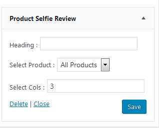 Product selfie review upload options