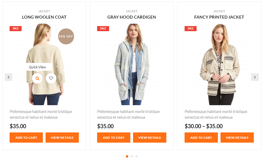 Product carousel template