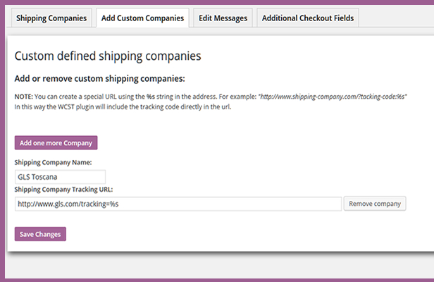 custom defined shipping companies