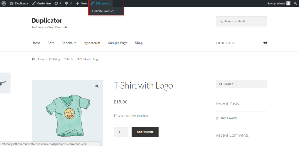Duplicate product link preview
