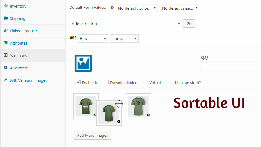 sortable UI