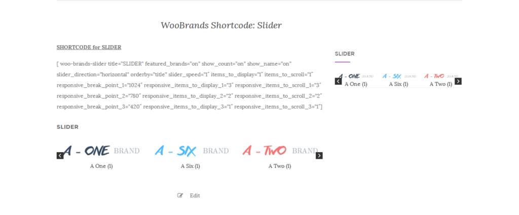 shortcode of slider