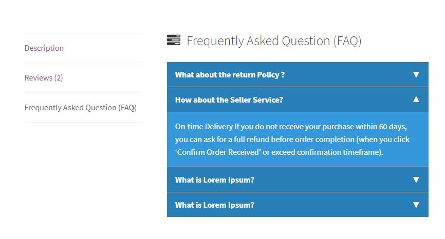 FAQ frontend