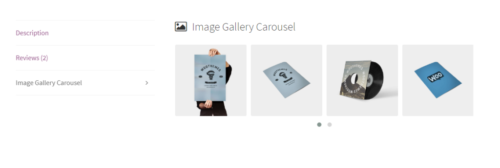image carousel tab frontend