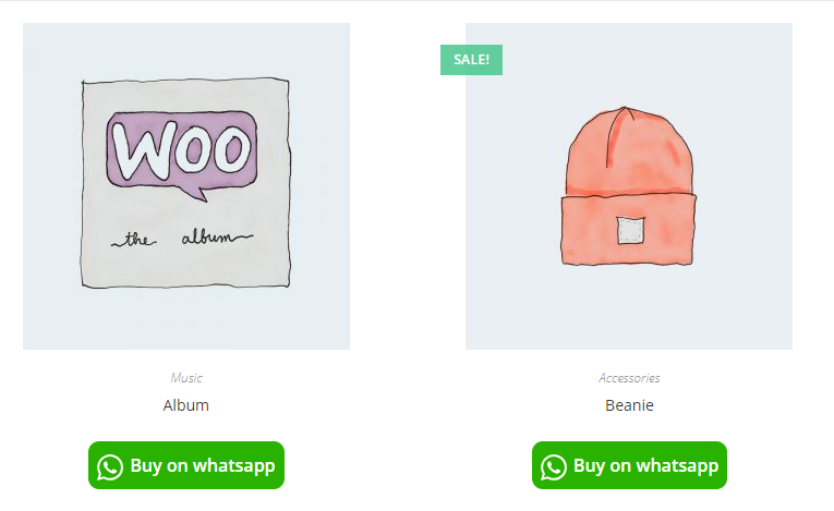 how buy on WhatsApp button looks to the customer