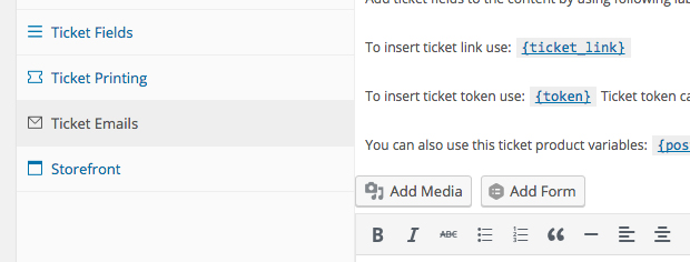 ticket emails