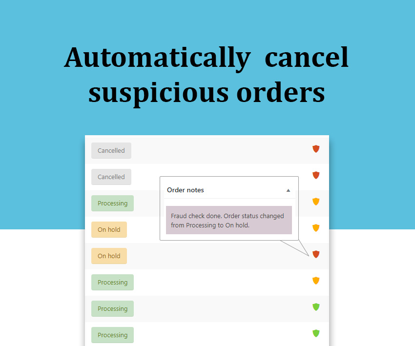 cancel suspicious orders
