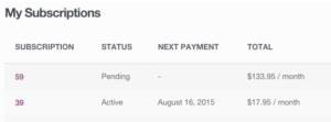 Subscriber Account Management