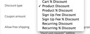 Subscription coupons