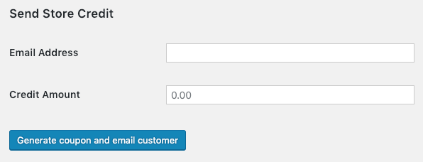 Store Credit Plugin - Send Credit