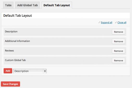 Default Tab Layout
