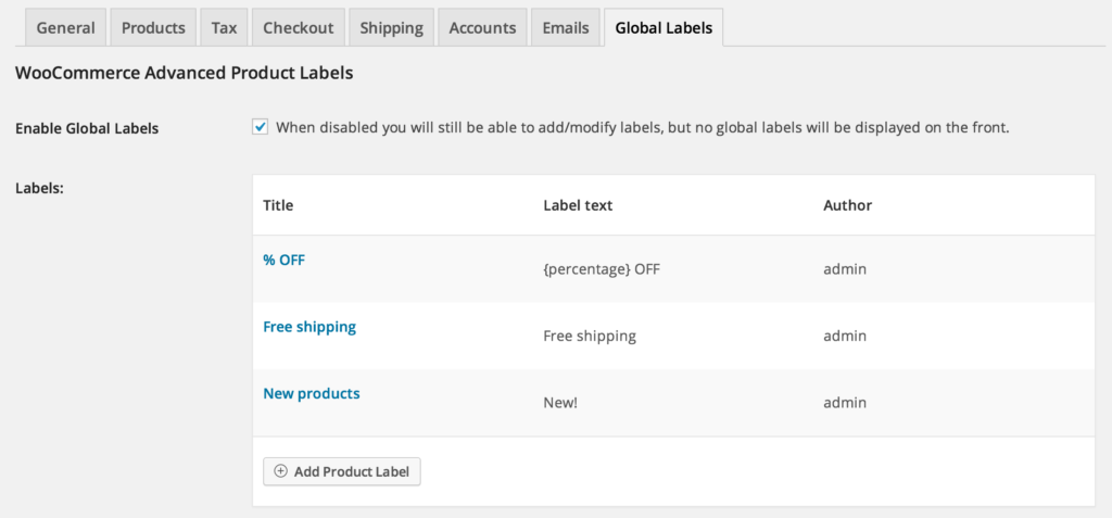 Global Labels Interface 2