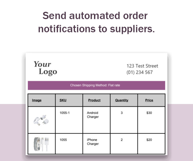 Send automated order notifications
