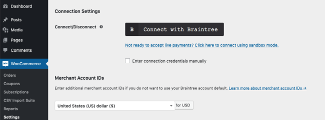 payment with PayPal with braintree
