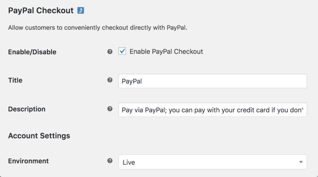 PayPal Checkout buttons