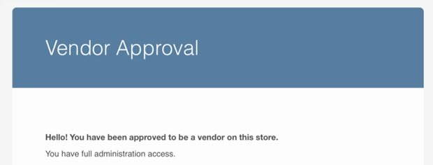 Send approval emails to vendors