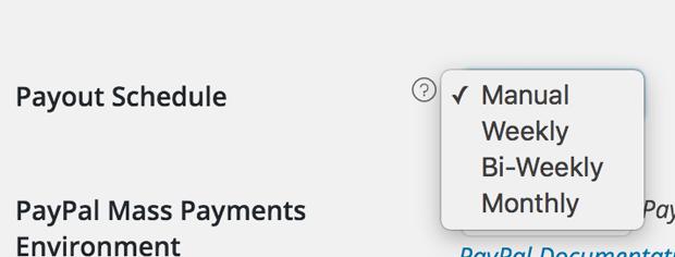 Manage payout settings