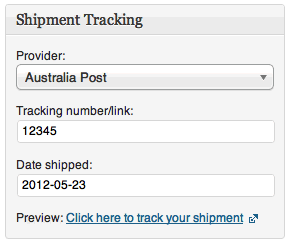 shipment tracking info