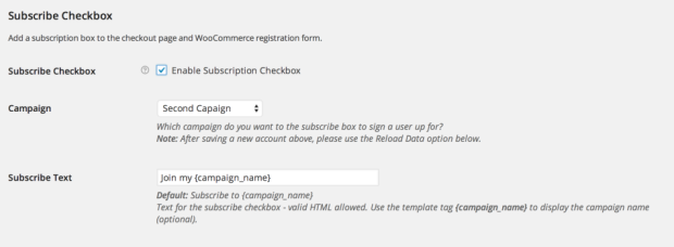 Subscribe Checkbox