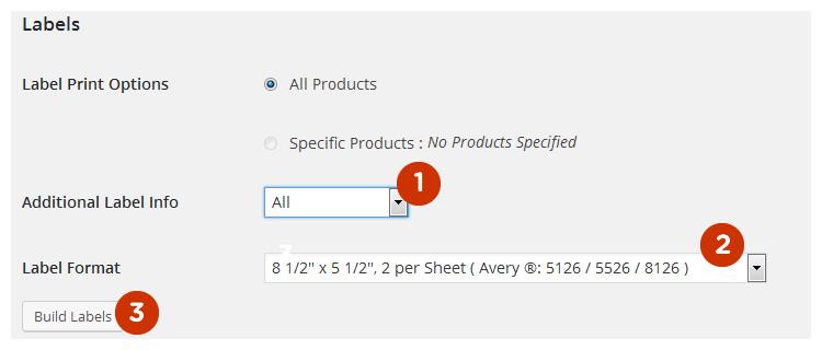 Scanventory label print settings